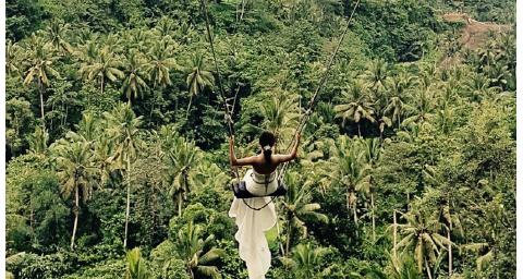 当地出发 | 抖音 网红推荐 巴厘岛丛林大秋千bali swing一日游(海神庙