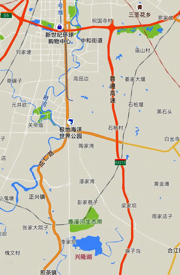 兴隆湖地图
