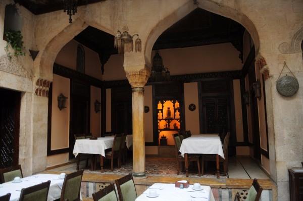 阿拉伯風格的庭院.圖片