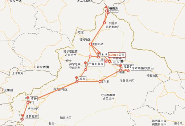 从北疆到南疆,从海拔-155米的吐鲁番盆地到海拔4700的红其拉甫口岸图片