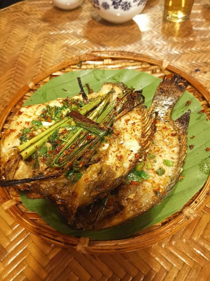 香茅草烤罗非鱼神仙鱼七彩鱼不爱吃食图片