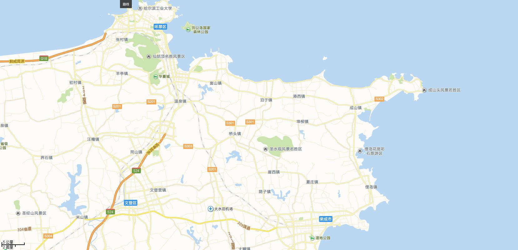 成山头景区—西霞口野生动物园—隆霞湖景区—海驴岛—鸡鸣岛 自理(可