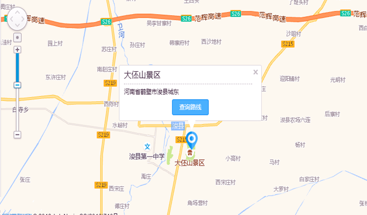 河南鹤壁浚县县城地图