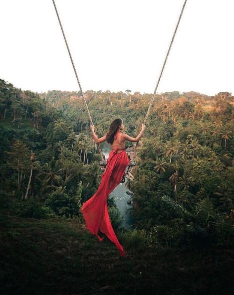 巴厘岛 乌布 网红秋千一日游(bali swing/瀑布/乌布皇宫/滑翔伞