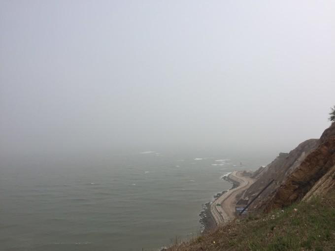 """连接山岛和海岸的神奇潮汐""""天桥""""-锦州笔架山游"""