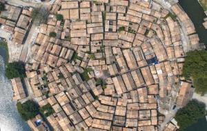 【肇庆图片】粤览天下:依照八卦方位排列布置的奇特村庄