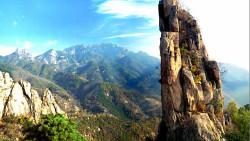 泰山景点-扇子崖