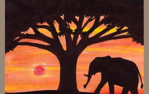 【非洲图片】儿子的《肯尼亚之旅手绘日记》(12岁)