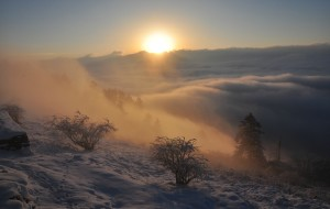【西岭雪山图片】选择了,就只顾风雨兼程!——徒步日月坪终见西岭日出云海