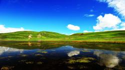 若尔盖景点-尕海湖