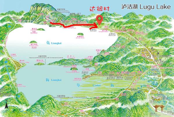洱海风景区景点地图