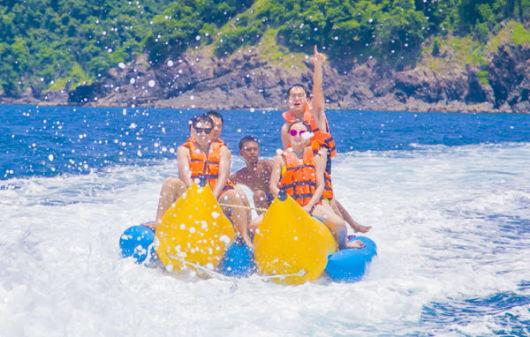 普吉 皇帝岛 珊瑚岛 神仙半岛海域日落双体快船一日游
