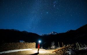 【黑水图片】【洛克足迹】璀璨的星空和灯火点亮冬日的雪山