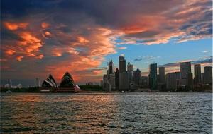 【悉尼图片】日落悉尼港——游轮晚餐巡航