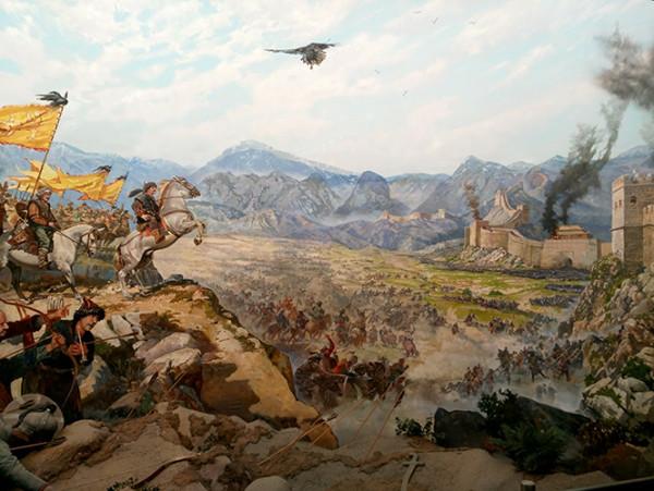 军事博物馆的一幅油画